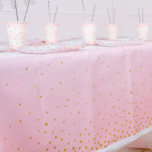 Pink & Gold Celebration Paper Table Cover