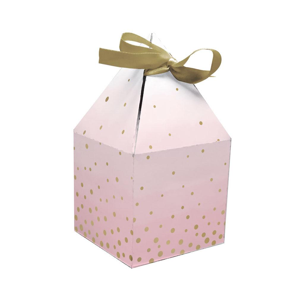 Pink & Gold Celebration Treat Boxes (x8)
