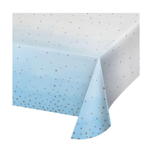 Blue & Silver Celebration Paper Table Cover