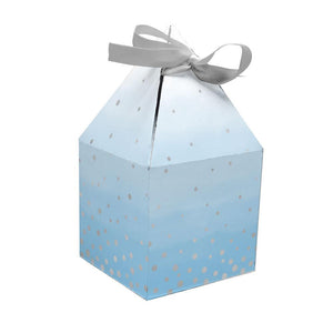 Blue & Silver Celebration Treat Boxes (x8)
