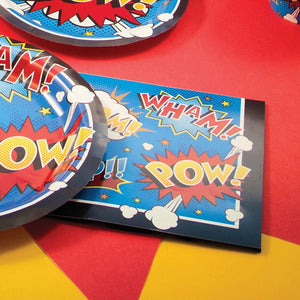 Superhero Slogan Napkins (x16)