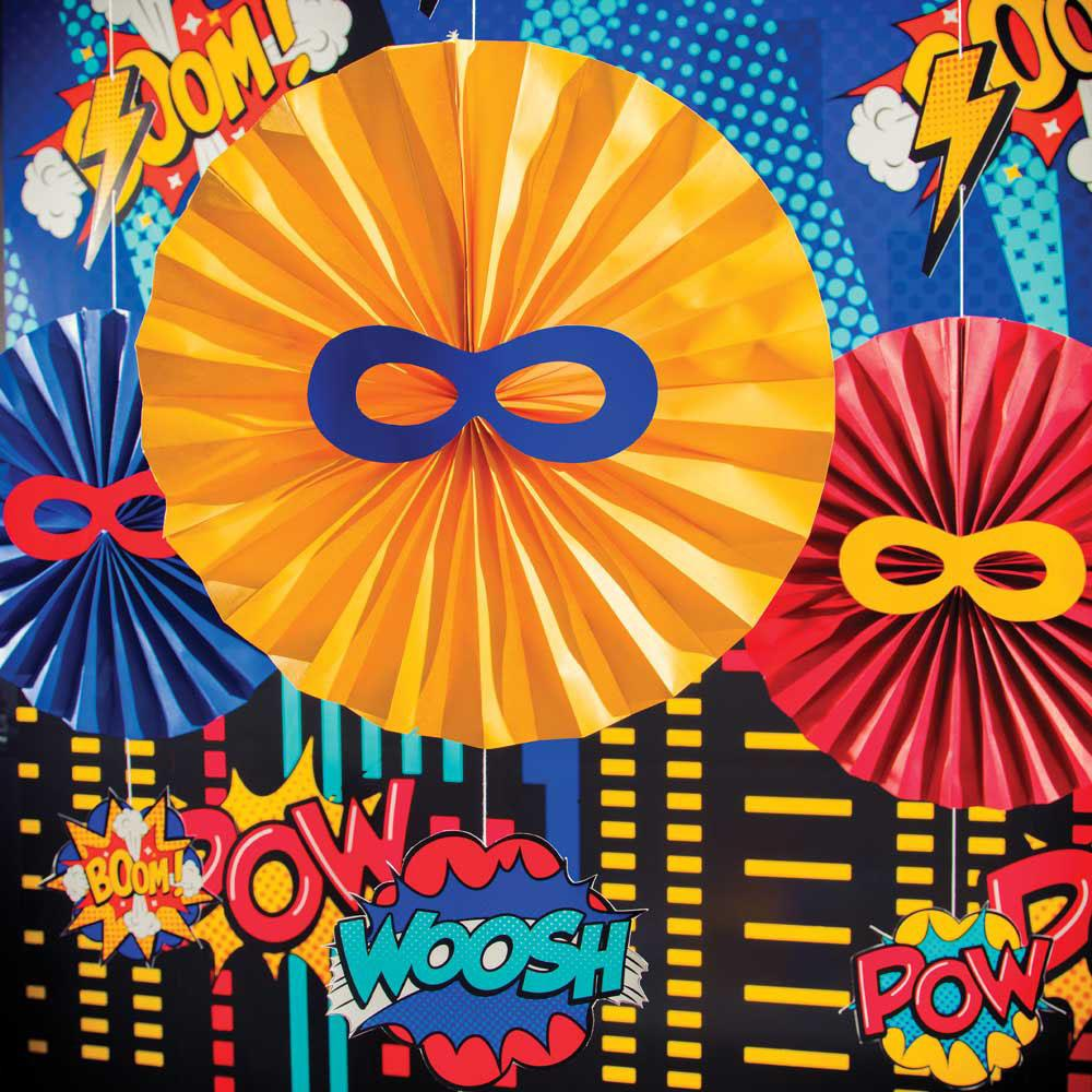 Superhero Slogan Hanging Decorations (x3)