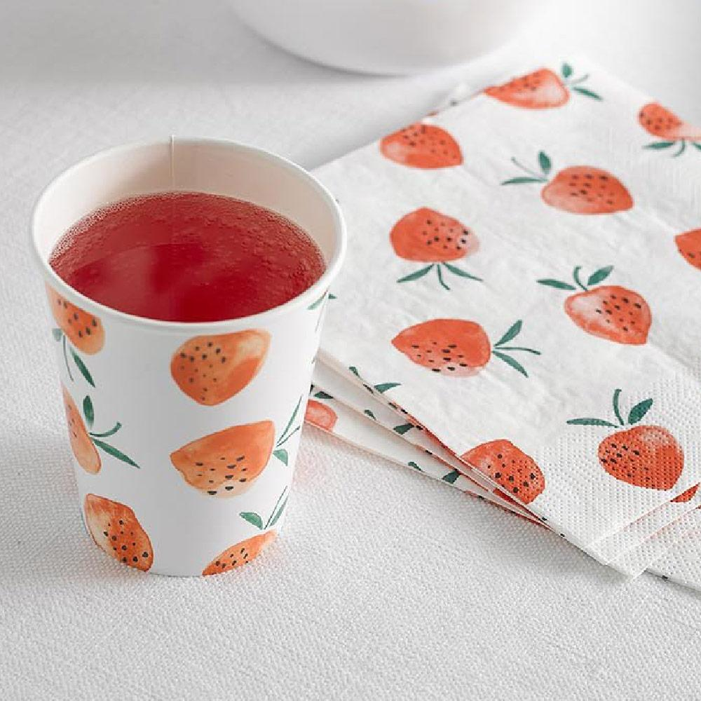 Strawberry Fields Cups (x8)