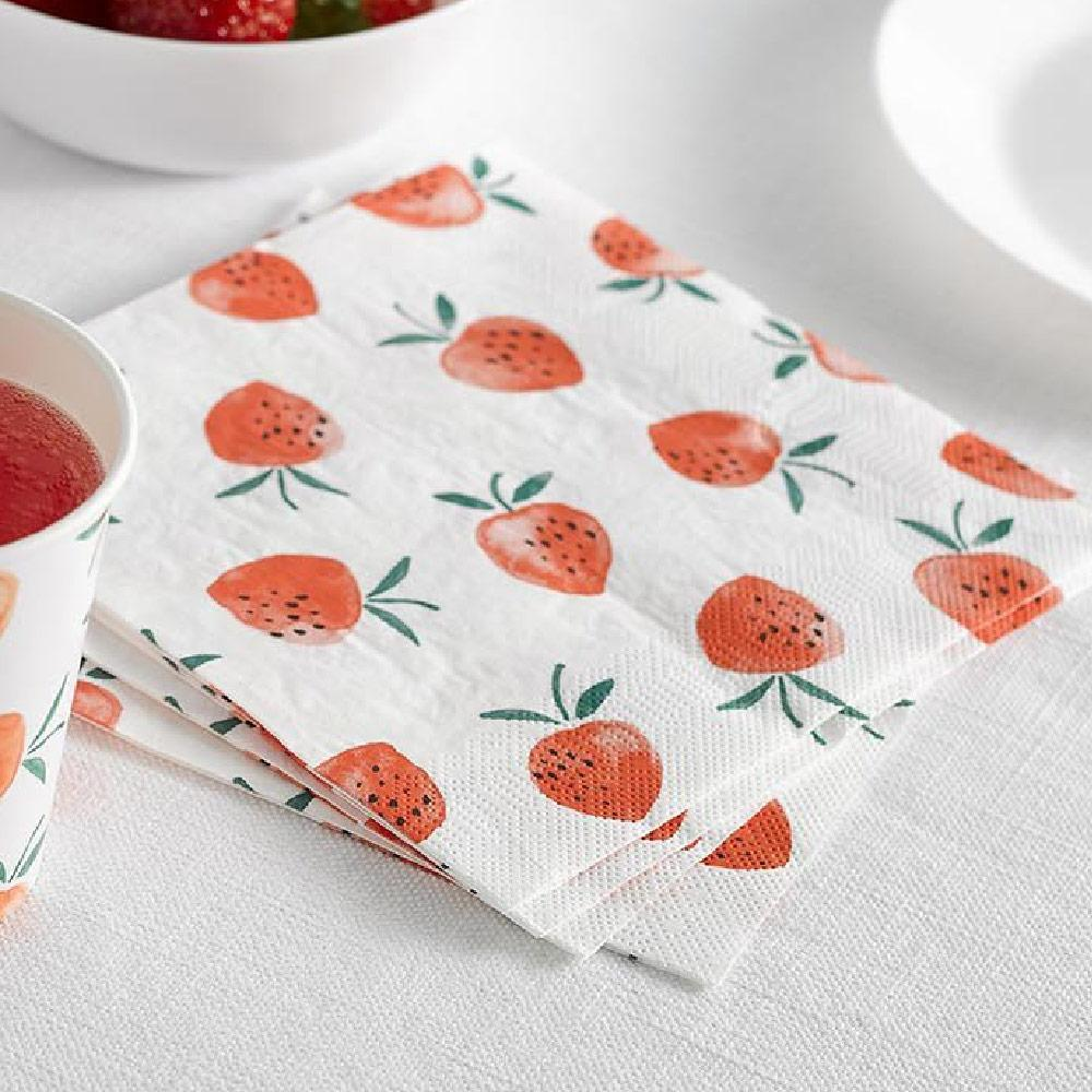 Strawberry Fields Napkins (x20)