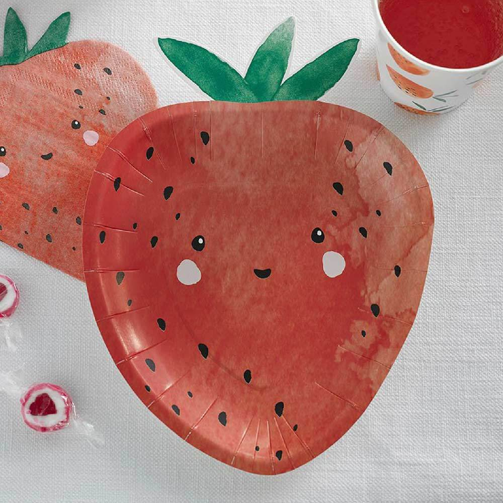 Strawberry Fields Shaped Plates (x12)