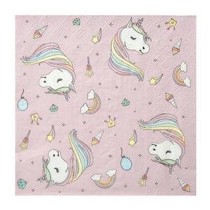 Rainbow Unicorn Party Napkins (x20)