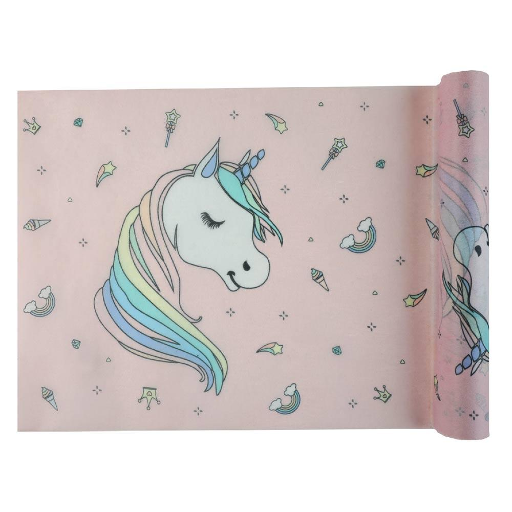 Rainbow Unicorn Party Table Runner