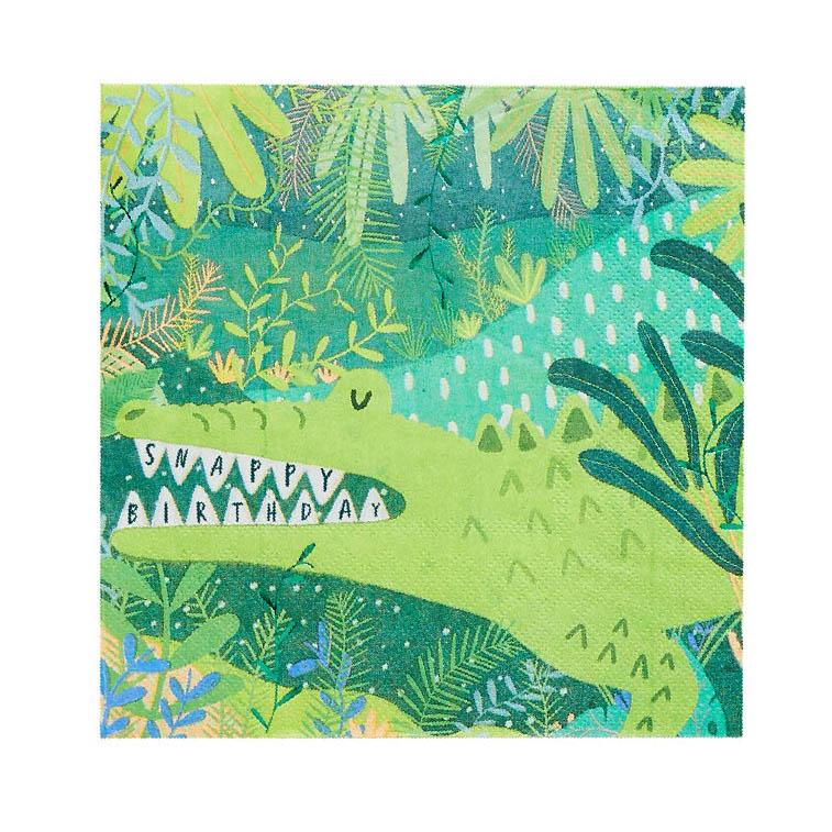 Snappy Birthday Croc Paper Napkins (x20)