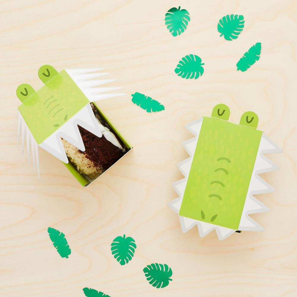 Snappy Birthday Croc Mini Cake Boxes (x10)
