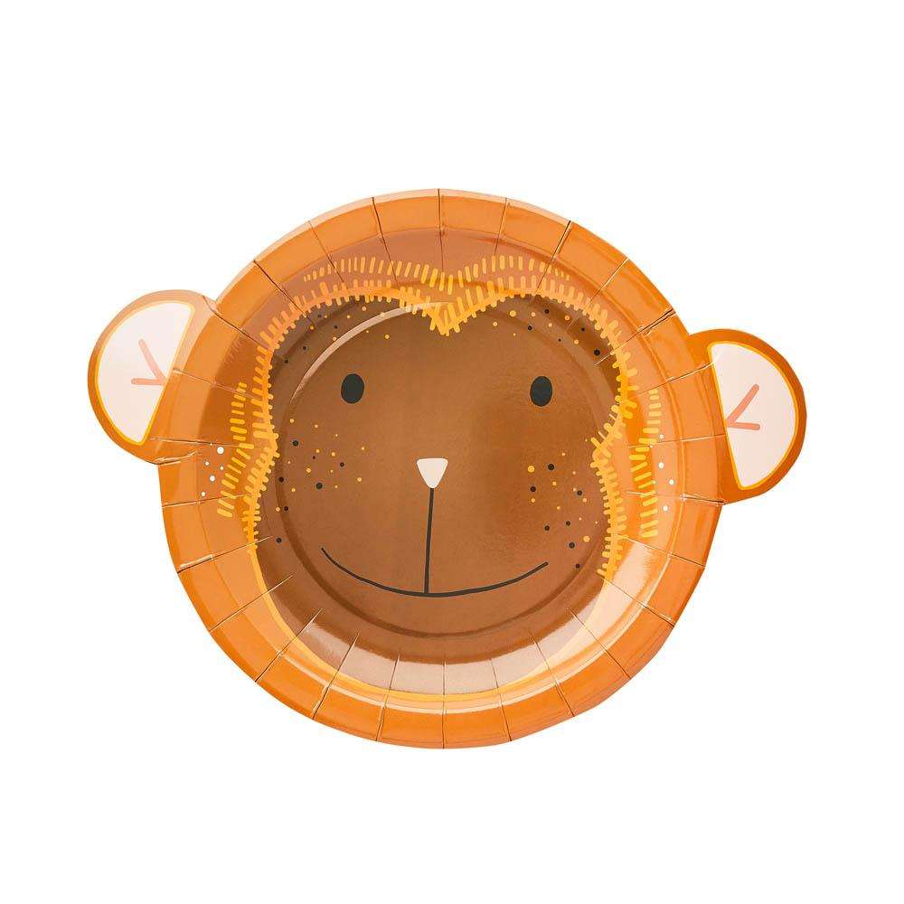 Snappy Birthday Monkey Paper Plates (x10)