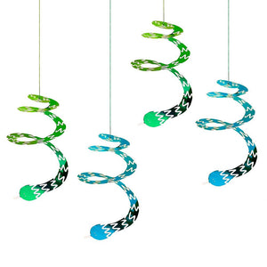 Snappy Birthday Swirly Snake Decorations (x4)