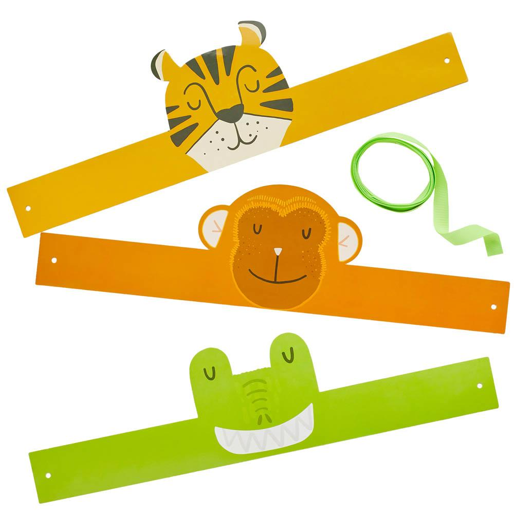 Snappy Birthday Animal Headbands (x6)