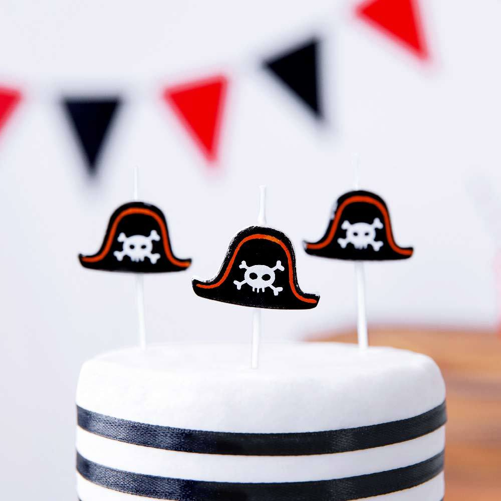 Pirates Party Birthday Candles (x5)