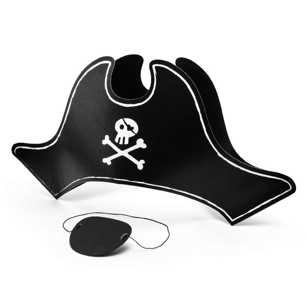Pirates Party Paper Hat and Eye Patch (x2)