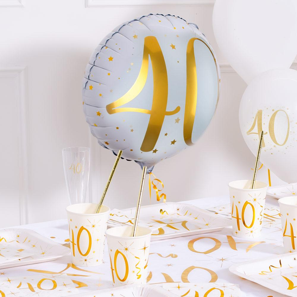 40th Birthday Foil Balloon