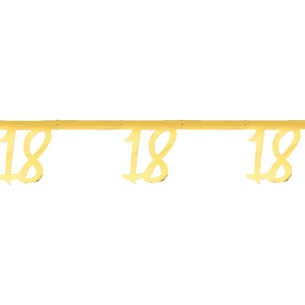 18th Birthday Gold Bunting
