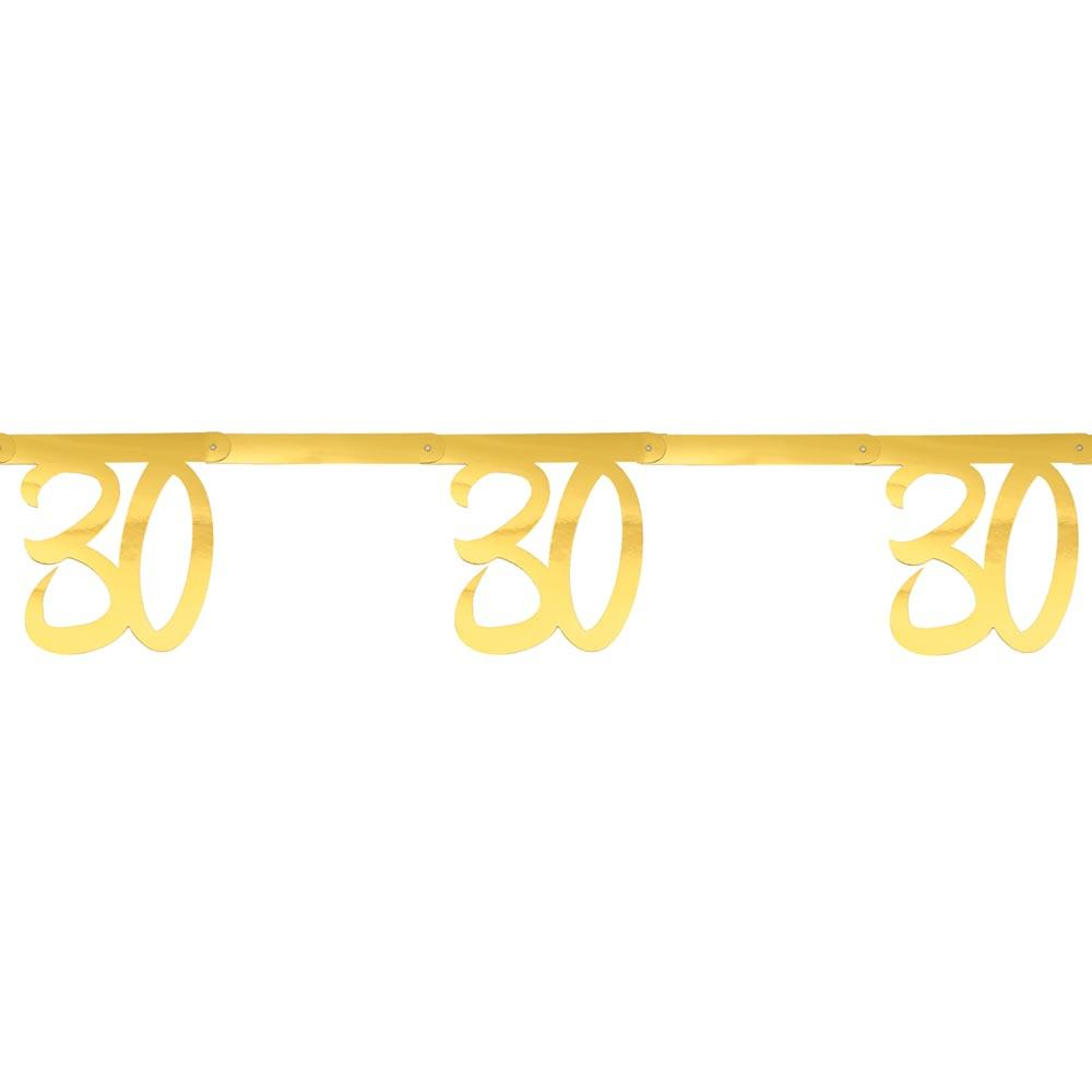 30th Birthday Gold Bunting