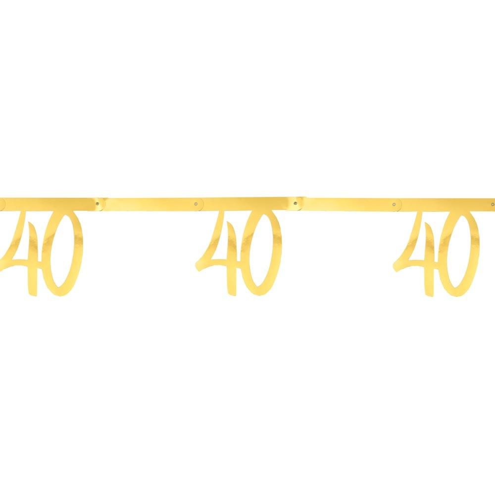40th Birthday Gold Bunting