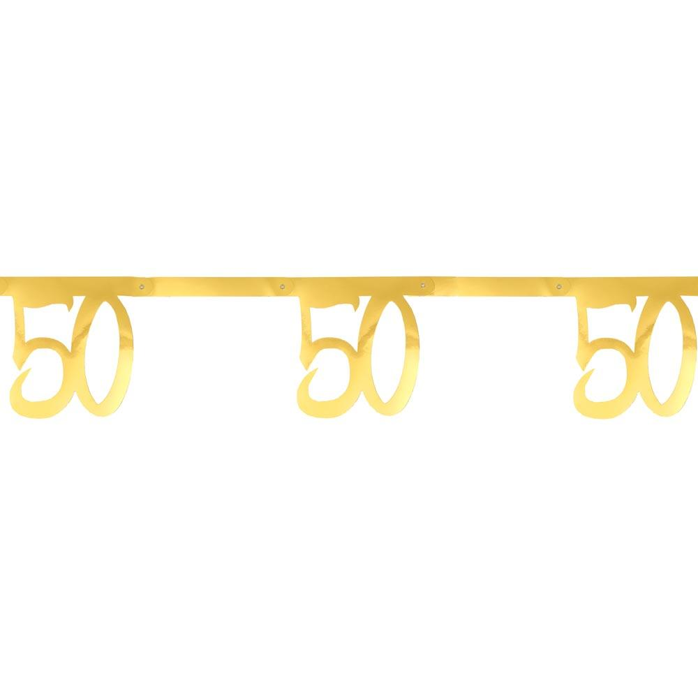 50th Birthday Gold Bunting