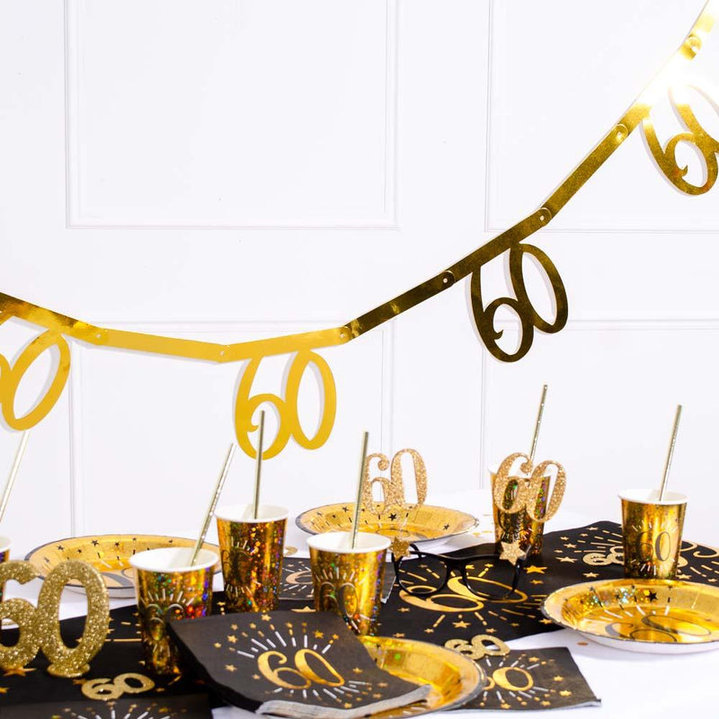 60th Birthday Gold Bunting