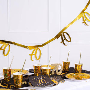 70th Birthday Gold Bunting
