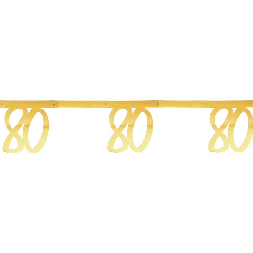80th Birthday Gold Bunting