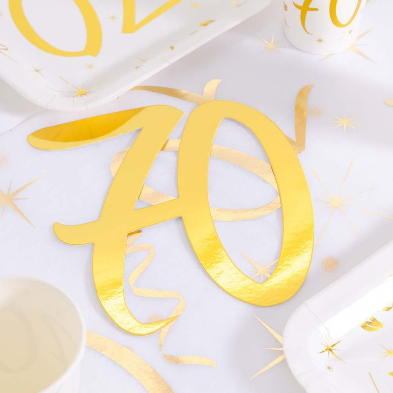 70th Birthday Oversized Confetti (x4)