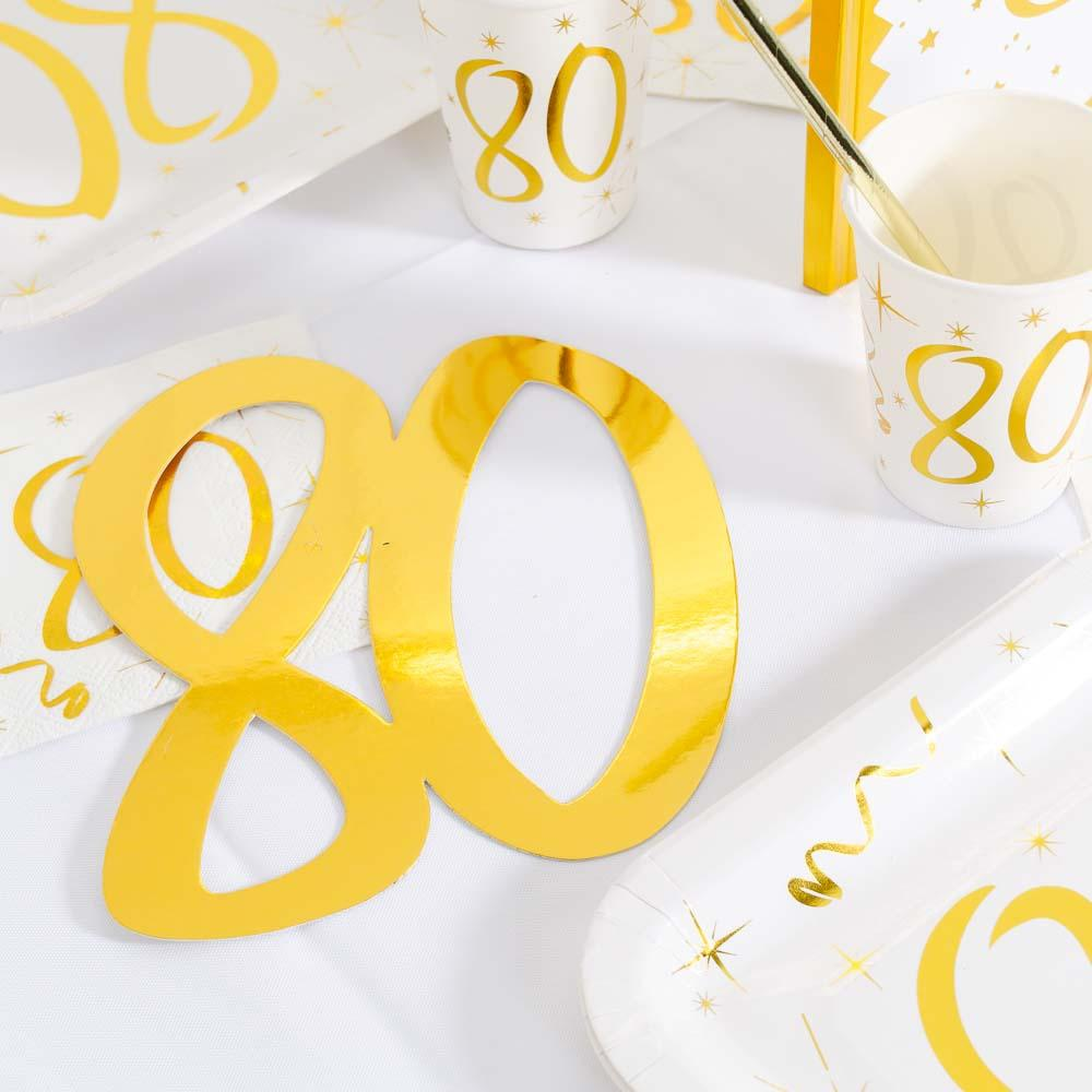 80th Birthday Oversized Confetti (x4)