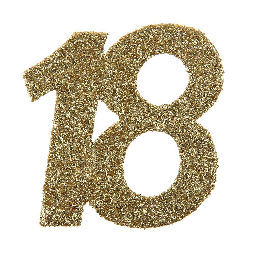 18th Birthday Oversized Glitter Confetti (x6)