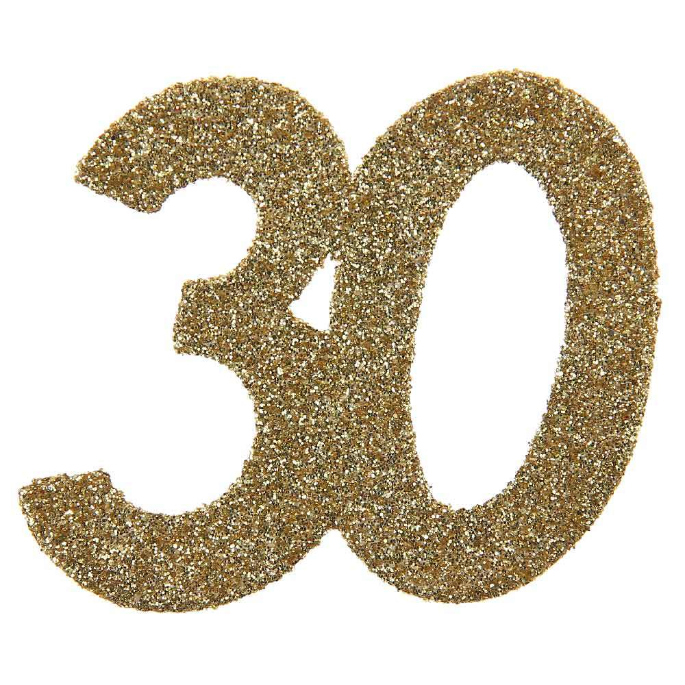 30th Birthday Oversized Glitter Confetti (x6)