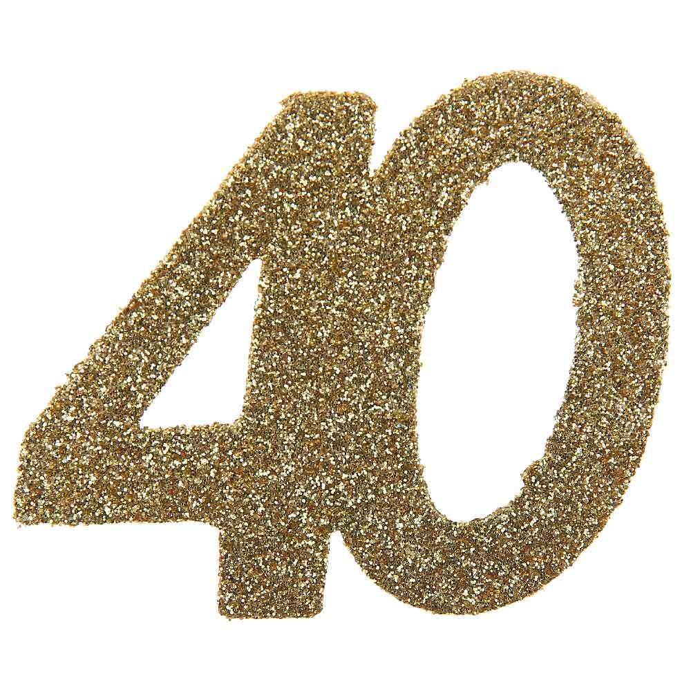40th Birthday Oversized Glitter Confetti (x6)