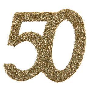 50th Birthday Oversized Glitter Confetti (x6)