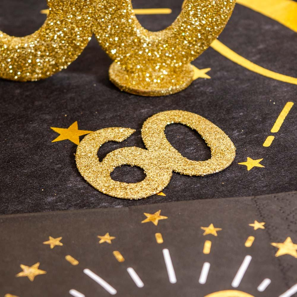 60th Birthday Oversized Glitter Confetti (x6)