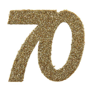 70th Birthday Oversized Glitter Confetti (x6)