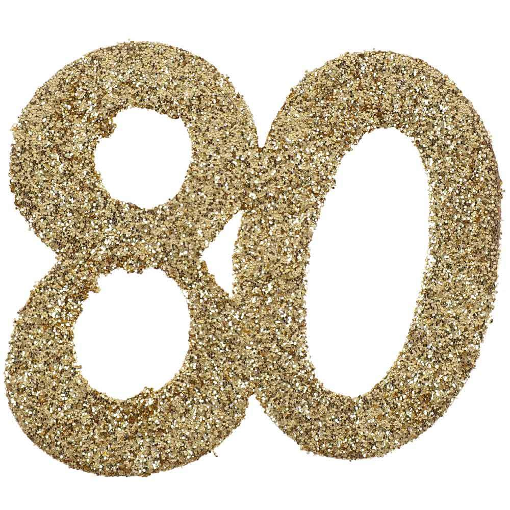 80th Birthday Oversized Glitter Confetti (x6)