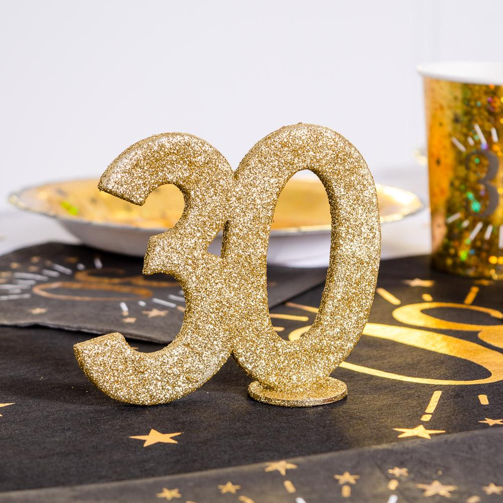 30th Birthday Glitter Table Decoration