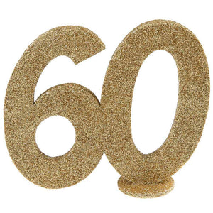 60th Birthday Glitter Table Decoration