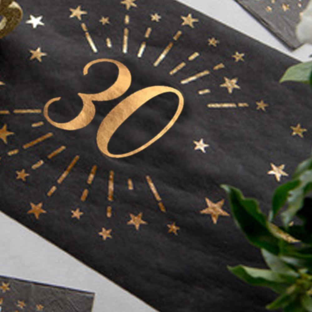 30th Birthday Sparkle Table Runner