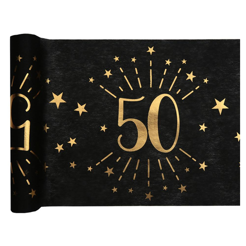 50th Birthday Sparkle Table Runner