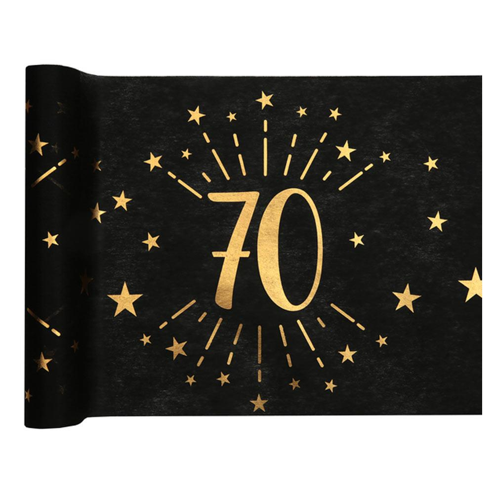 70th Birthday Sparkle Table Runner