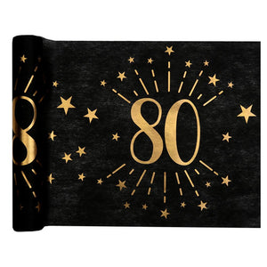 80th Birthday Sparkle Table Runner