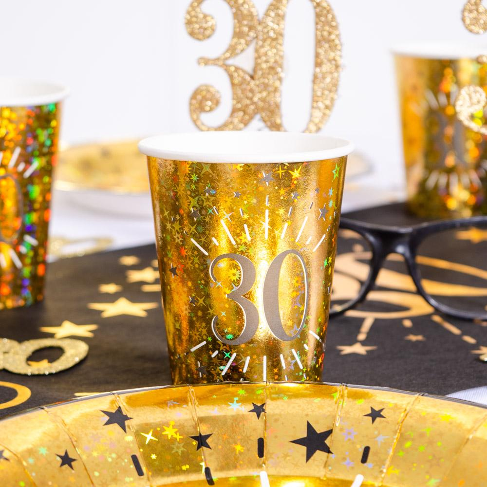 30th Birthday Sparkling Cups (x10)