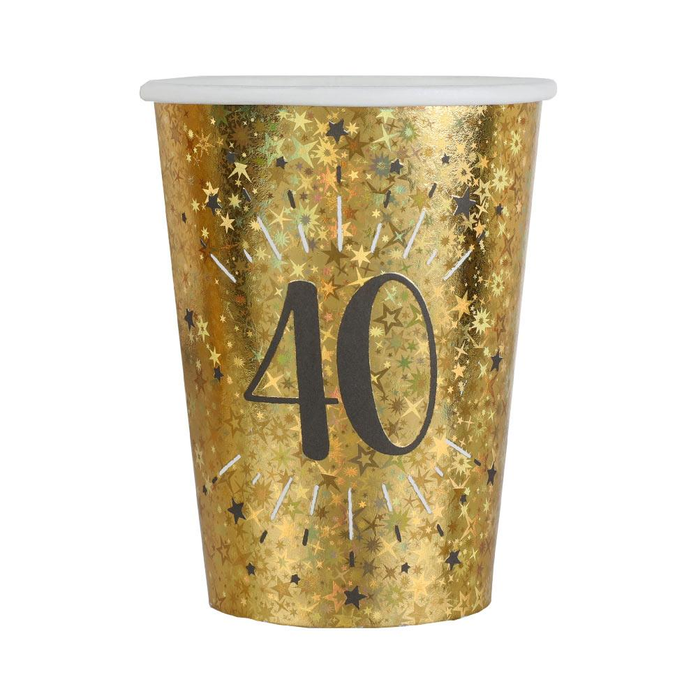 40th Birthday Sparkling Cups (x10)