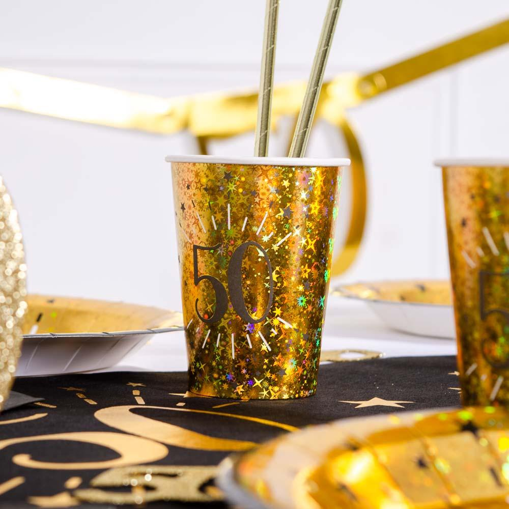50th Birthday Sparkling Cups (x10)