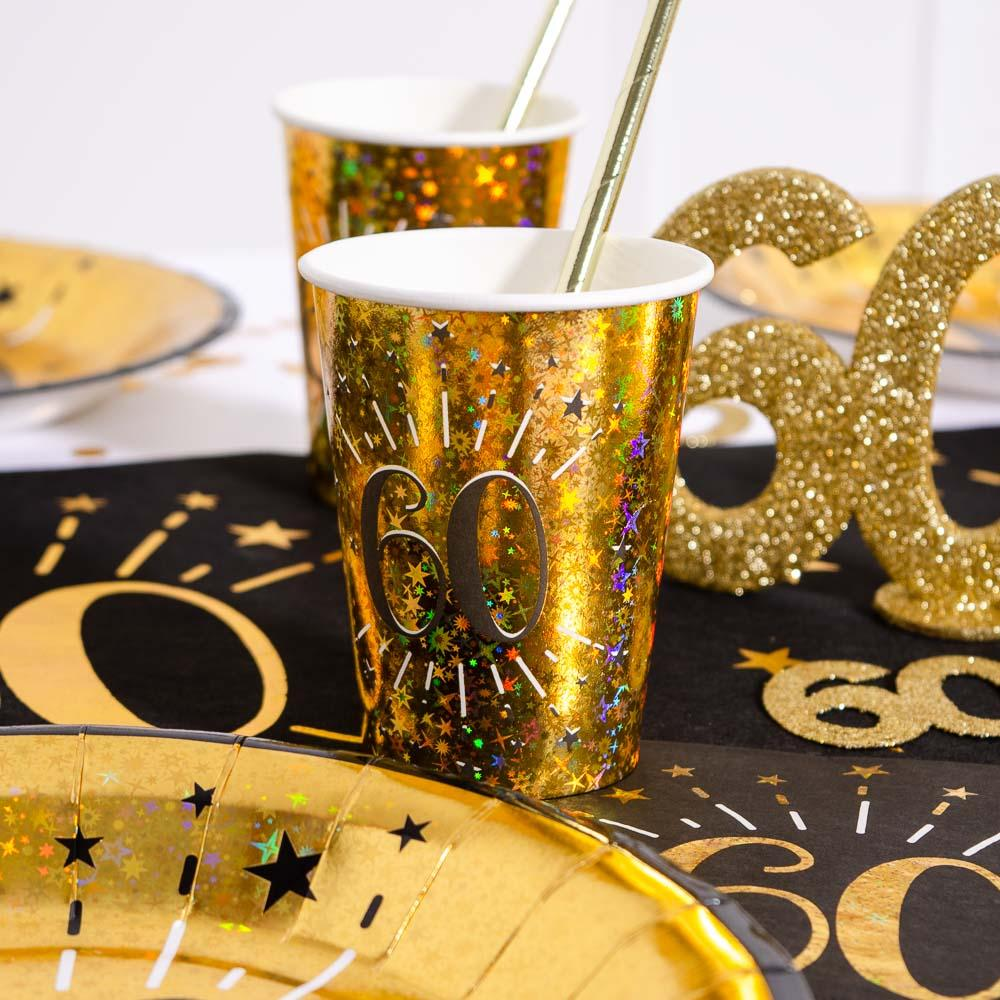 60th Birthday Sparkling Cups (x10)