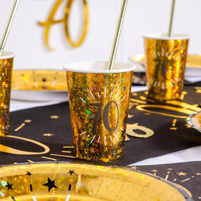 70th Birthday Sparkling Cups (x10)