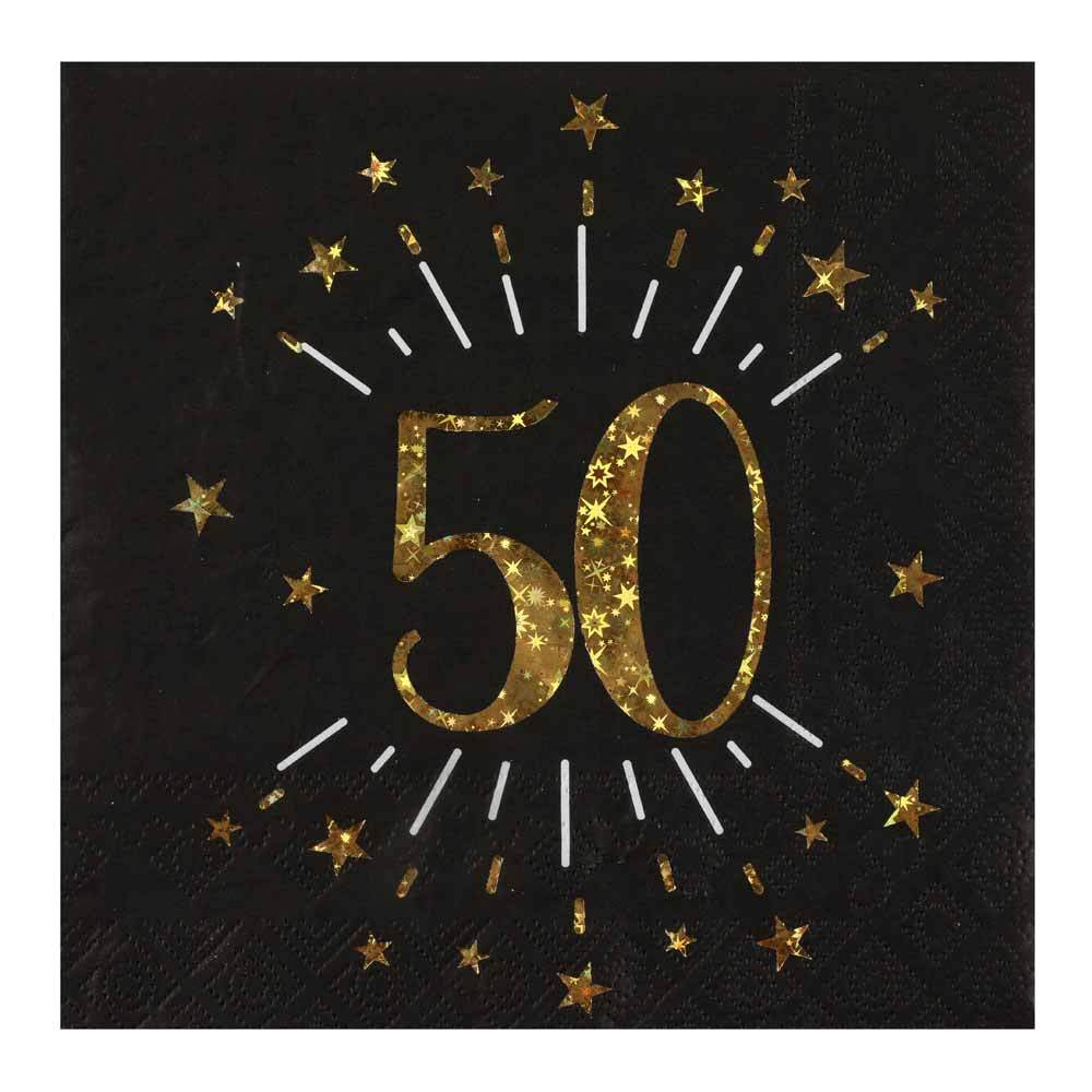 50th Birthday Sparkle Napkins (x10)