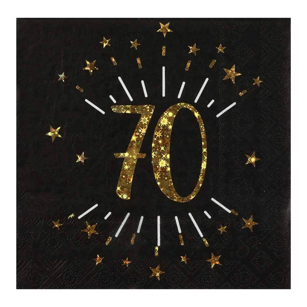 70th Birthday Sparkle Napkins (x10)