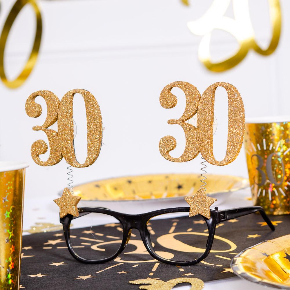 30th Birthday Glitter Sparkle Glasses
