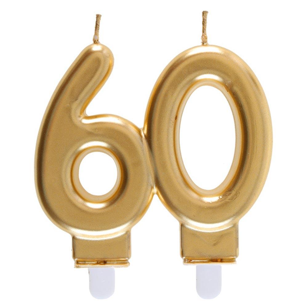60th Birthday Gold Candle